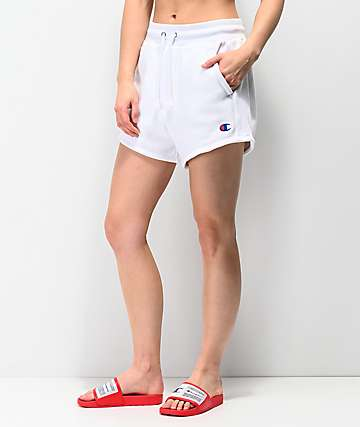 Champion Reverse Weave White Sweat Shorts
