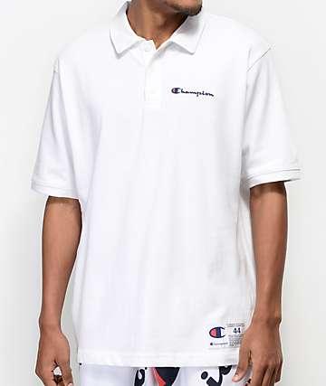 Champion Reverse Weave camiseta polo en rojo y blanco