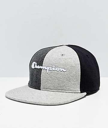 02c8317796fce Champion Reverse Weave gorra negra y gris