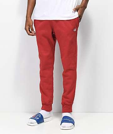 Champion Reverse Weave pantalones deportivos rojos