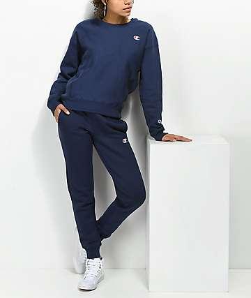 Champion Reverse Weave pantalones jogger deportivos en azul marino