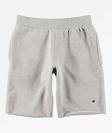 Champion Reverse Weave shorts de punto gris