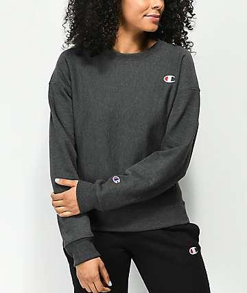 Champion Reverse Weave sudadera gris con cuello redondo