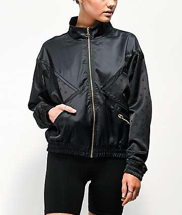 Champion Satin Black Track Jacket
