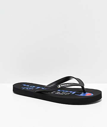 Champion Script Black Sandals