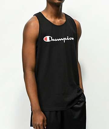 Champion Script Black Tank Top
