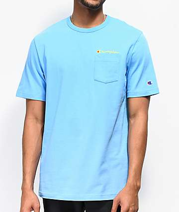 Champion Script Blue Pocket T-Shirt