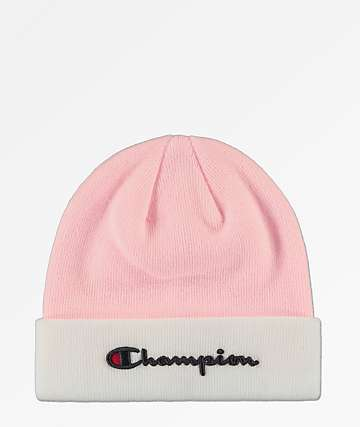 36f1f5c1dbf ... coupon champion script candy pink white beanie 49caa 15721