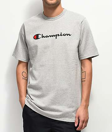 49a82a53ab59 Champion Script Heather Grey T-Shirt