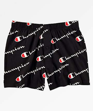 Champion Script Knit Black Boxers