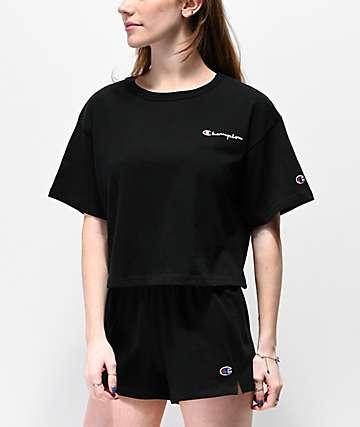 Champion Script Logo camiseta corta negra 4faca0883f519
