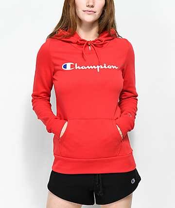Champion Script Red Hoodie
