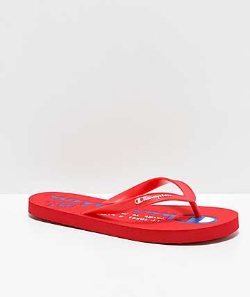 Champion Script Red Sandals