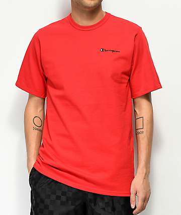Champion Script Red T-Shirt