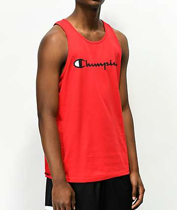 Champion Script Red Tank Top