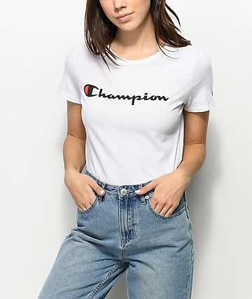 Champion Script camiseta blanca