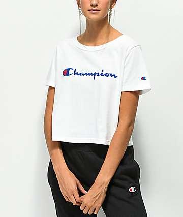 Champion Script camiseta corta blanca