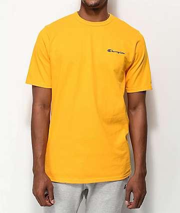 Champion Script camiseta dorada con bordado
