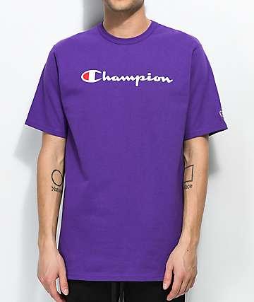 Champion Script camiseta morada