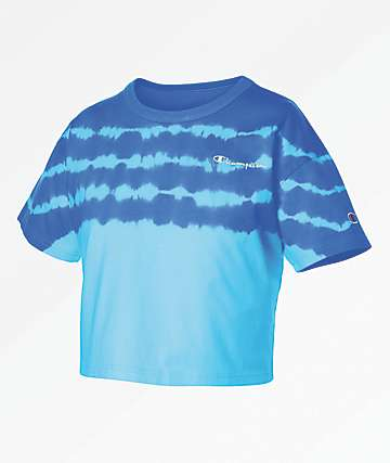 Champion Streak Dye Active Blue Crop T-Shirt