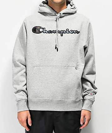 Champion Super Fleece Grey Hoodie