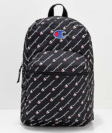 33cd15951d Champion Supercize Logo Script Black Backpack