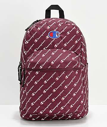 Champion Supercize Logo Script Maroon Backpack