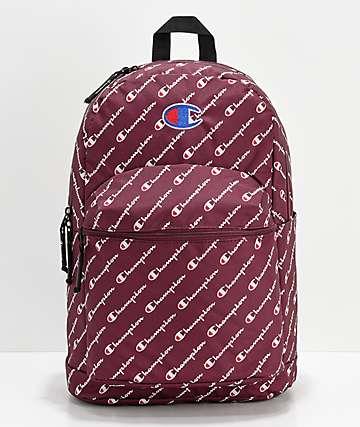 Champion Supercize Logo Script Maroon Backpack