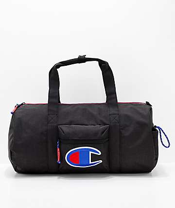 Champion Supersize 32L Black Duffle Bag