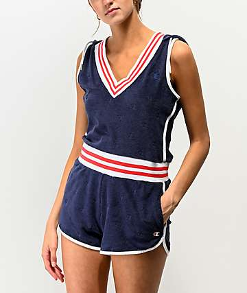 Champion Terry Cloth Blue Romper