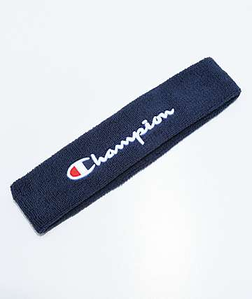 Champion Terry Logo Indigo Headband