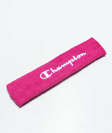 Champion Terry Logo Pink Headband