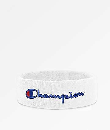 Champion Terry Logo White Headband