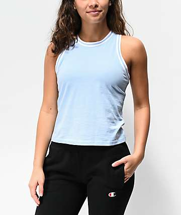 Champion Tiny Ocean Blue Tank Top