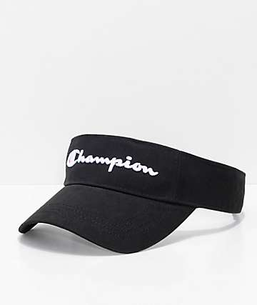 Champion Twill   Mesh Black Visor 6217176253b