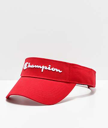 Champion Twill Mesh Scarlet Red Visor