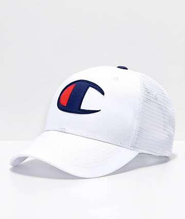 Champion Twill Mesh White Dad Hat