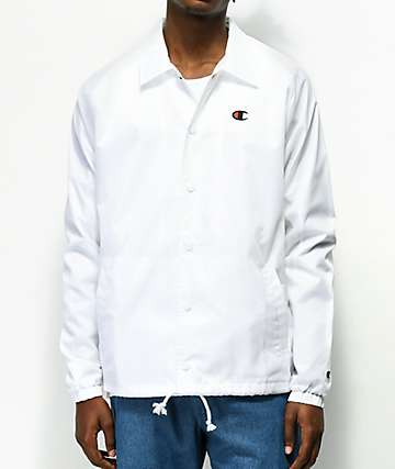 Champion USA White Coaches Jacket