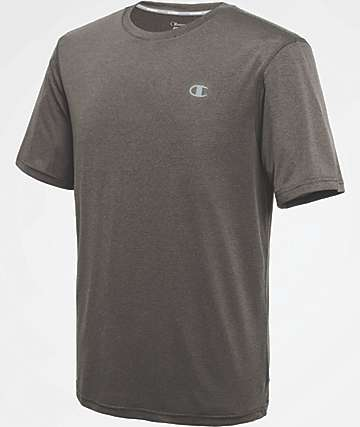 Champion Vapor Stripe Shadow Grey T-Shirt