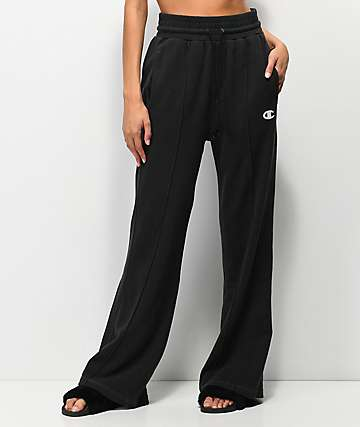 Champion Vintage Black Wide Leg Sweatpants