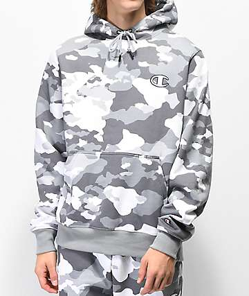 Champion White Camo Super Fleece Hoodie