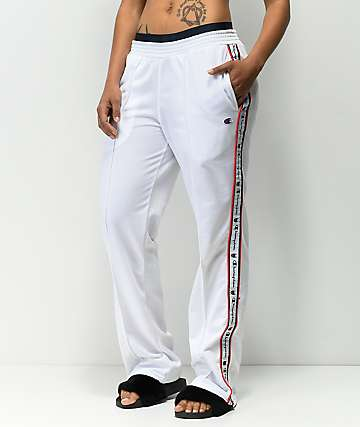 Champion White Track Pants