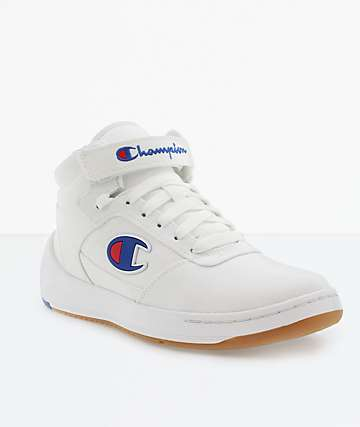 Champion Women's Court Mid White Shoes
