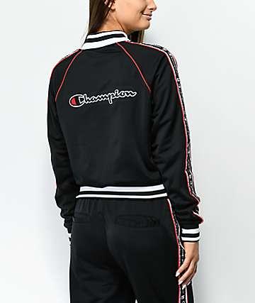 Champion chaqueta de chándal con cinta negra y roja