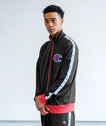 Champion chaqueta de chándal negra