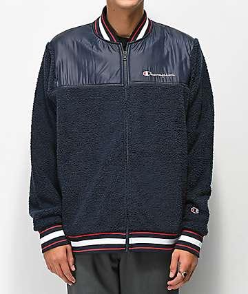 Champion chaqueta de sherpa azul marino