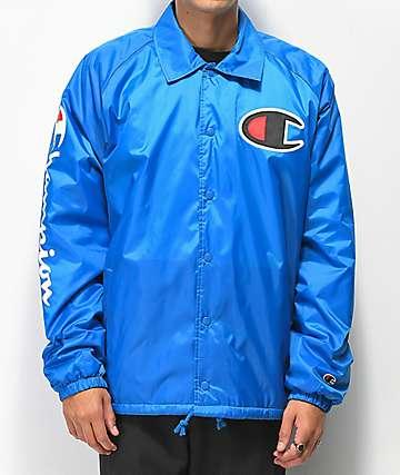 Champion chaqueta entrenador azul forrada
