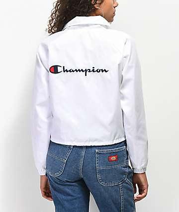 Champion chaqueta entrenador corta blanca