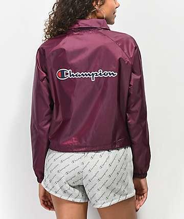 Champion chaqueta entrenador de color borgoño