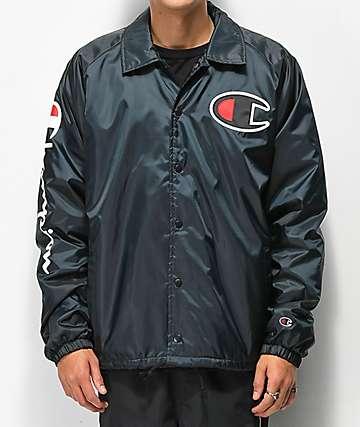 Champion chaqueta entrenador negra forrada